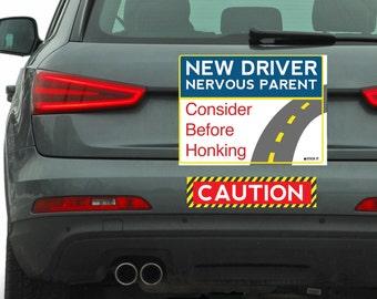 New Driver 9x12 Car Magnet