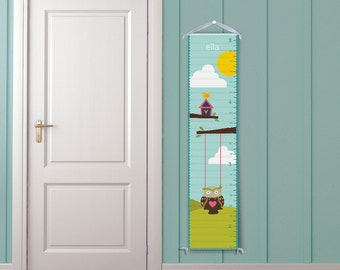 Owl Swing - Personalized Children's Growth Chart