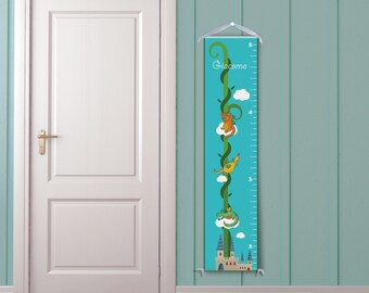 Little Dragons in Blue - Personalized Children's Growth Chart