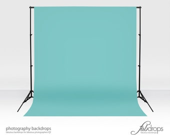 Photography Backdrop Blue  Aqua Sky - Perfect For Infant, Baby, Kids, Photography Shoots Background - Cloth Fab Drop (FD1813)