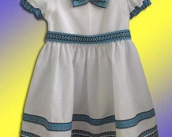 Ukrainian children dress Ukrainian embroidery Folk dress Baby girl dress Vyshyvanka dress Cotton summer dress Ukrainian clothing