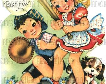 Happy Birthday Baseball  Card #1 Digital Download