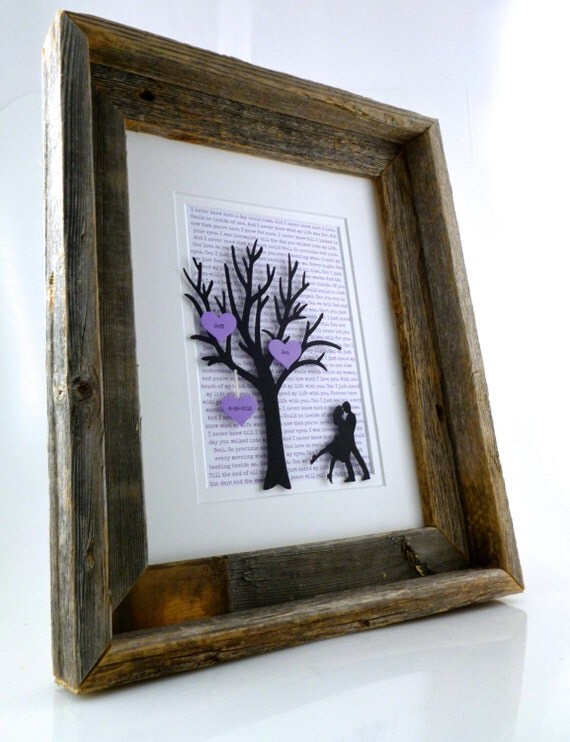 Personalized st year anniversary gift tree with by handmadehq