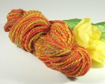 Sunny Plumosa Handspun Worsted Weight Wool Yarn