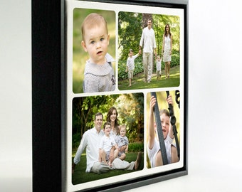 """16x16"""" Personal - Family Photo Collage on Box Frame Canvas - Family Portrait"""