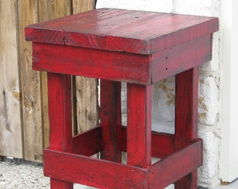 Small RED End Table, Side Table, Nightstand, other colors available!!
