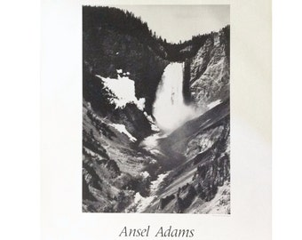 Ansel adams waterfall the mural project 1941 1942 for Ansel adams the mural project