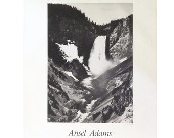 Ansel adams waterfall the mural project 1941 1942 for Ansel adams mural project