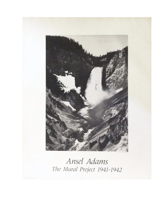 Vintage ansel adams waterfalls the mural project for Ansel adams the mural project posters