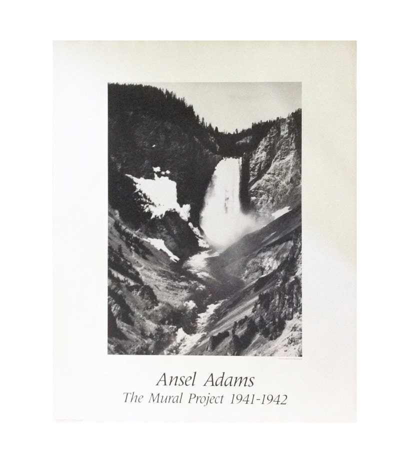 Vintage ansel adams waterfalls the mural project for Ansel adams the mural project prints