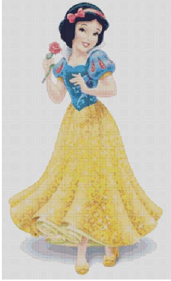 Counted Cross Stitch Pattern Disney Snow White In Glittery
