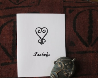 The Sankofa Card. A box of beautiful African-centered  individually printed notecards on linen recycled paper. Blank inside.