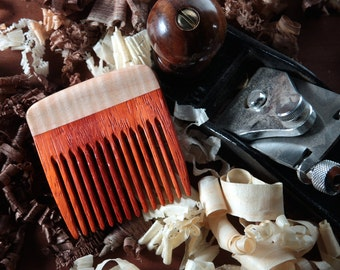 Beard Comb Wooden Handmade Personalized Paduak Curly Maple Fine Tooth Best Beard Kit Eco Friendly Natural Static Free Long Hair Comb