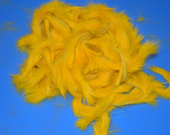 "1 Ounce Yellow Rabbit Zonkers Strips 1/8"" Straight Cut Fly Tying Fishing (#638)"