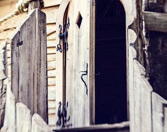 Landscape Photography - Nashville, TN - Tree House - Door - Weathered Wood - Fine Art