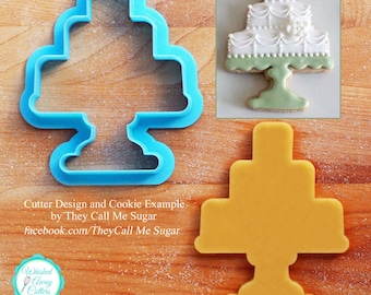 Susan's Wedding or Birthday Cake Stand Cookie Cutter
