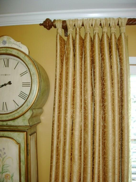 Gathered Tab Top Curtain Panel CUSTOM your fabricmy