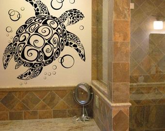 Turtle Wall Art sea turtle decor | etsy