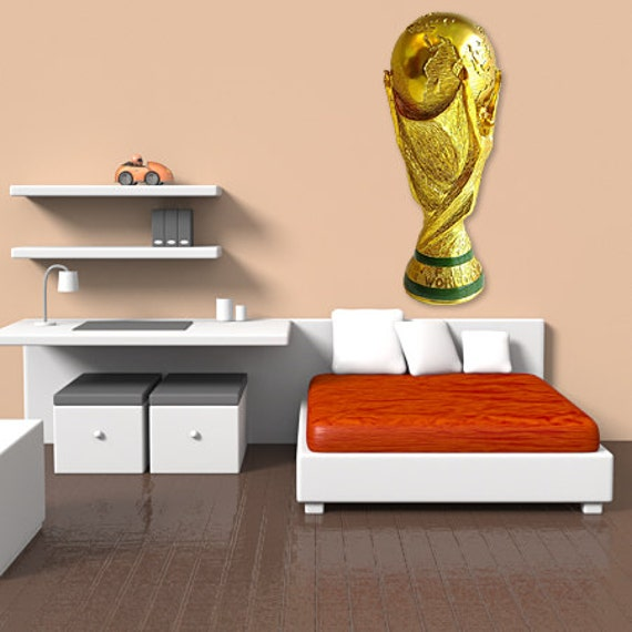 Wall decals world cup soccer A384 - Stickers coupe du monde football A384