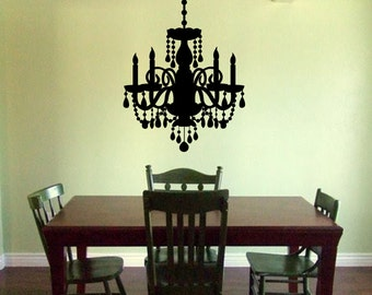 Chandelier Wall Sticker - Victorian Chandelier decal - Wall Chandelier