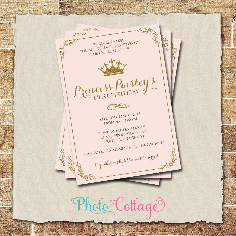 Royal Birthday Invitation Princess Birthday Party Royal Ball
