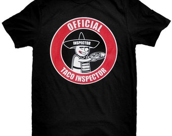 The Official Taco Inspector Black T Shirt