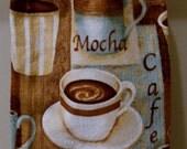Crochet Top Towel, Mocha Coffee Cappucino
