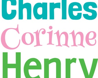 Personalized name sticker, Name decal, Vinyl name sticker, Personalized sticker, Kids name sticker, Trunk decal, Trunk label, Trunk sticker
