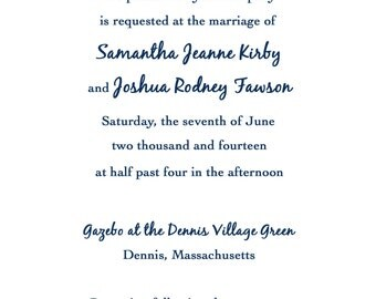 Customizable Beachy/Nautical/Ocean Wedding Invitation Suite