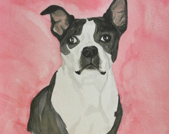 Custom Watercolor Pet Portrait - Bust