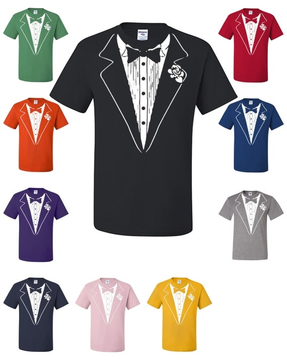 Funny Tuxedo T Shirt Funny Wedding Gift Groom Tux Man By
