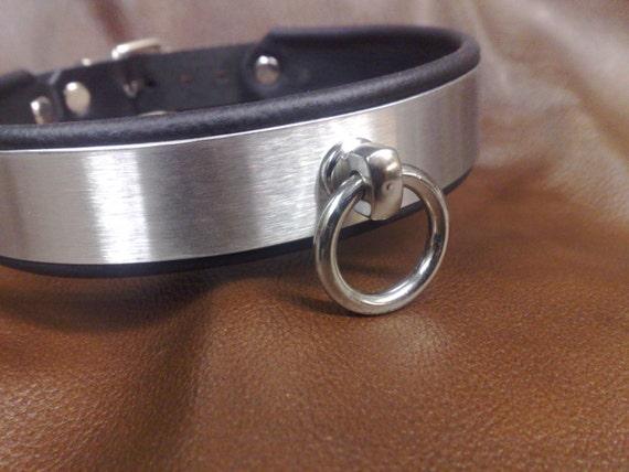 Collier soumise colliers soumis Eternity acier or chic