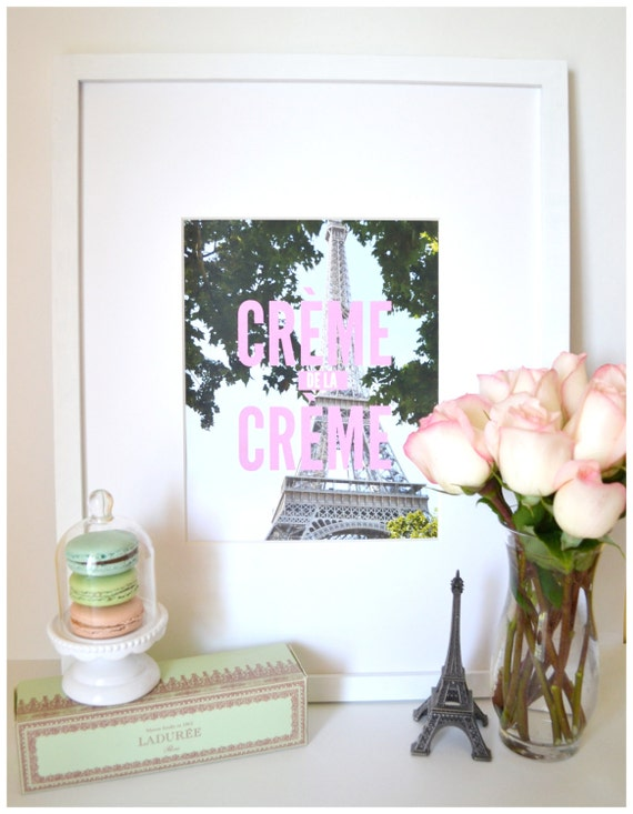 Crème de la Crème Print by macarons and peonies print shop, back to school, decorating your college dorm room, decor in your first apartment