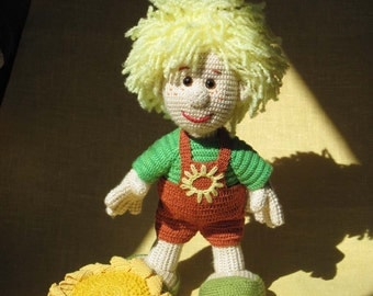 Crochet Doll Sunflowers Knitted Soft Toy