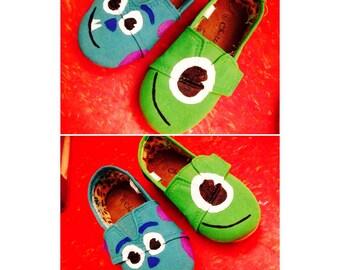 Monsters, Inc Handpainted Children's Shoes