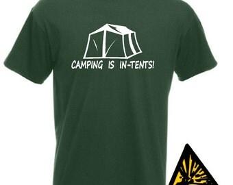 C&ing Is In Tents T-Shirt Joke Funny Tshirt Tee Shirt & Tents | Etsy