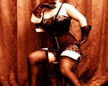 """Vintage Risque Nude Exotic - Erotic Corsets #022 Canvas Art Poster 16"""" x 24"""""""