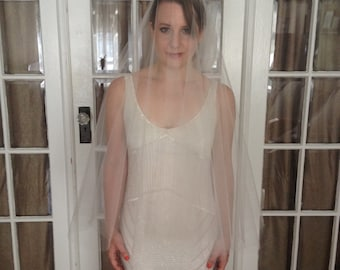 "Circle Drop Illusion Tulle Wedding Veil- Custom Length (up to 72"")"