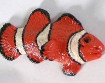 Clownfish Polymer Clay Magnet