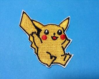 Iron on Sew on Patch:  Pikachu