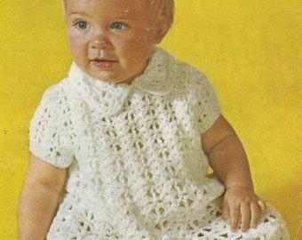 Baby Dress Crochet Pattern Victorian : Baby Dress Crochet Pattern / Victorian