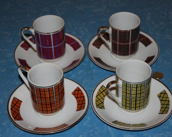 Very Hip 1950s/60s Coffee Cups and Saucers