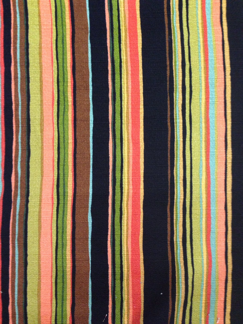 Vibrant Multicolored Stripe Fabric Upholstery Fabric By