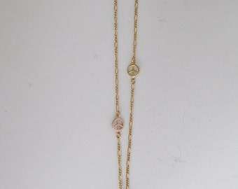 Peace and Cross Necklace
