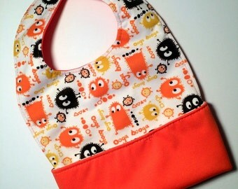 Waterproof pocket bib Halloween monster Ooga booga