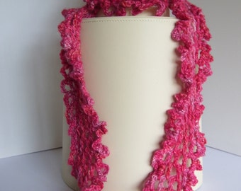 Ravelry: Triple Loop Skinny Scarf with Button pattern by