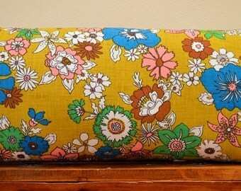 Handmade long cushion using vintage fabric