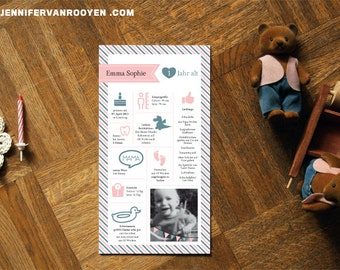 A Childs first Year: Custom Infographic Design