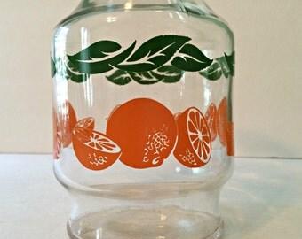 Vintage Anchor Hocking Orange Juice OJ Glass Carafe Pitcher Made in USA