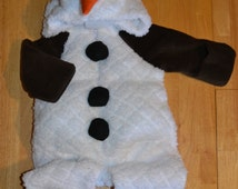 Snowman Costume Pattern sizes 0-18 months